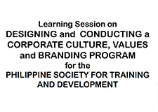 Designing and Conduction A Corporate Value and Branding Program