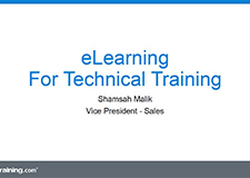 E-Learning For Technical Training