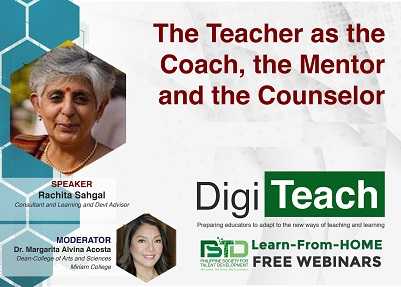The Teacher as the Coach, the Mentor and the Counselor