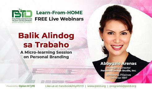 Balik Alindog sa Trabaho A Micro-learning Session on Personal Branding